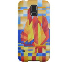 Sailing on the Seven Seas so Blue Cubist Abstract Samsung Galaxy Case/Skin