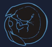 Rabbit in the Moon (Blue) by Felix Keigh