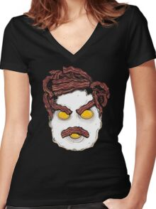 All the Bacon & Eggs Women's Fitted V-Neck T-Shirt