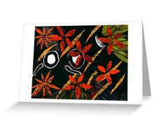 Flowers in Wind Greeting Card