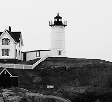 Cape Neddick Nubble Light by dwornham