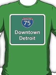 INTERSTATE 75: DOWNTOWN DETROIT T-Shirt
