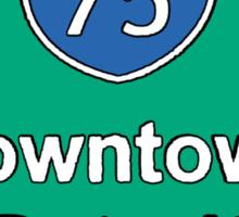 INTERSTATE 75: DOWNTOWN DETROIT Sticker