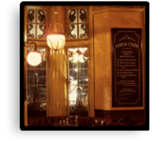 Retro London Pub Canvas Print