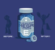 Blue Bomber Mega Vitamins by drawsgood