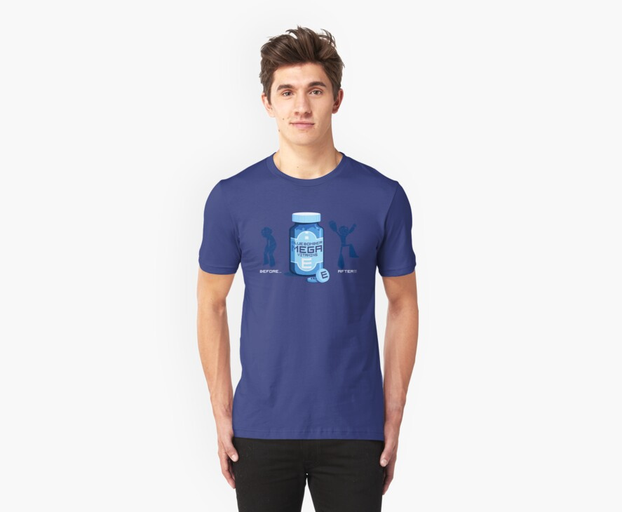 Blue Bomber Mega Vitamins by drawsgood