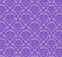 vintage purple pattern by offpeaktraveler