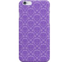 vintage purple pattern iPhone Case/Skin