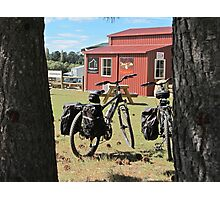bicycles at Wedderburn Photographic Print