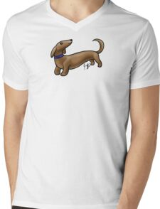 Dachshund Mens V-Neck T-Shirt