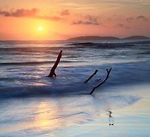 Sunrise at Rainbow Beach  by Ann  Van Breemen