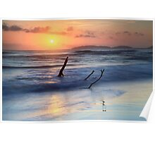 Sunrise at Rainbow Beach  Poster