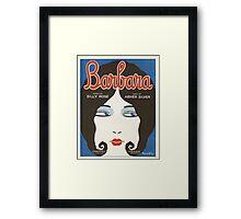 BARBARA (vintage illustration) Framed Print