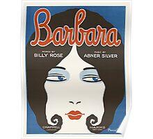 BARBARA (vintage illustration) Poster