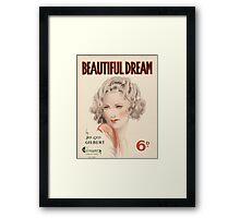 BEAUTIFUL DREAM (vintage illustration) Framed Print