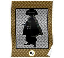Samurai portrait Poster