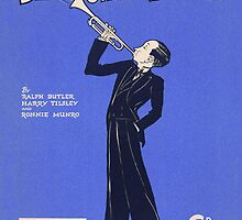 BLOW YOUR OWN TRUMPET (vintage illustration) by ART INSPIRED BY MUSIC