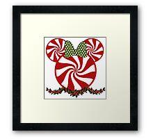 Peppermint Minnie Framed Print