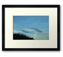 Sky over the Freeway Framed Print