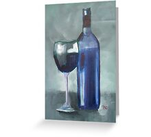 Red Wine and Glass Greeting Card