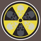 Radioactive Skulls T-shirt by liquidentity