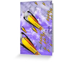space ship invasion Greeting Card