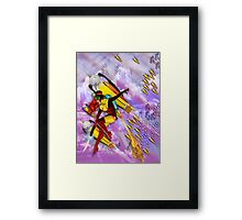jetgirl rocketship squadron Framed Print