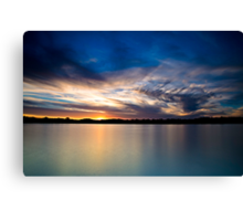 Setting For the Night Canvas Print