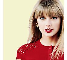 Taylor the Lady in Red  Photographic Print