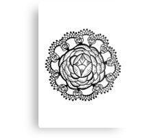 Art Deco Floral Mandala Metal Print