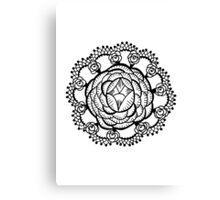 Art Deco Floral Mandala Canvas Print
