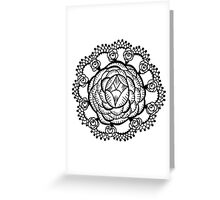 Art Deco Floral Mandala Greeting Card