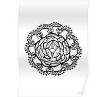 Art Deco Floral Mandala Poster