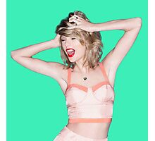 Crazy Hair Taylor Swift Photographic Print