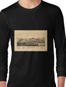 Panoramic Maps Wilmington Vt Long Sleeve T-Shirt
