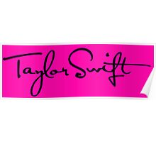 Taylor Swift logo Poster