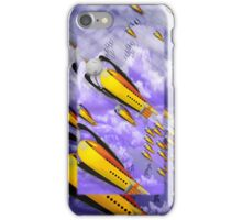 space ship invasion iPhone Case/Skin