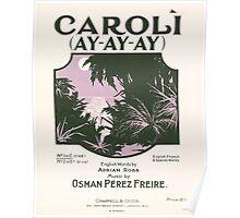 CAROLI AY-AY-AY (vintage illustration) Poster