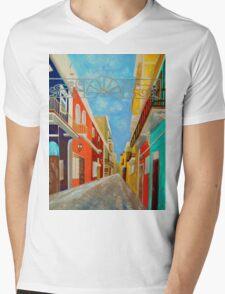 Old San Juan Mens V-Neck T-Shirt