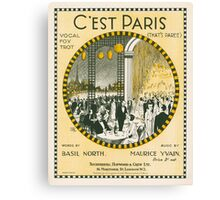 C'EST PARIS (vintage illustration) Canvas Print