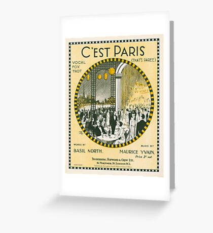 C'EST PARIS (vintage illustration) Greeting Card