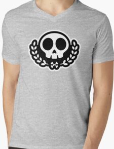 Skull graphic Mens V-Neck T-Shirt