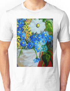 Flowers in a White Vase Unisex T-Shirt