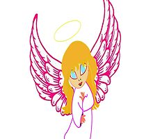 Child Angel iPhone Case by Dennis Melling