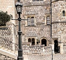 Lower Ward Windsor Castle colour by Colin Bentham