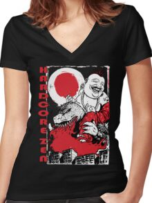 Sit Down & Shut Up  Women's Fitted V-Neck T-Shirt