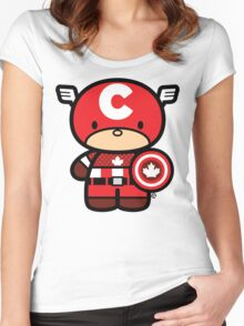 Chibi-Fi Captain Canada Women's Fitted Scoop T-Shirt