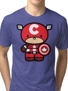 Chibi-Fi Captain Canada Tri-blend T-Shirt