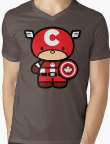 Chibi-Fi Captain Canada Mens V-Neck T-Shirt