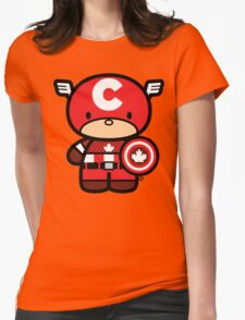 Chibi-Fi Captain Canada Womens Fitted T-Shirt